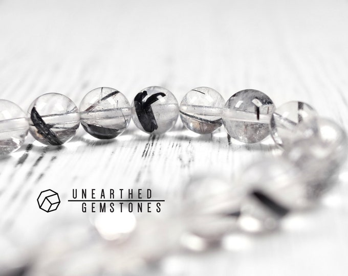 Tourmalinated Quartz Bracelet