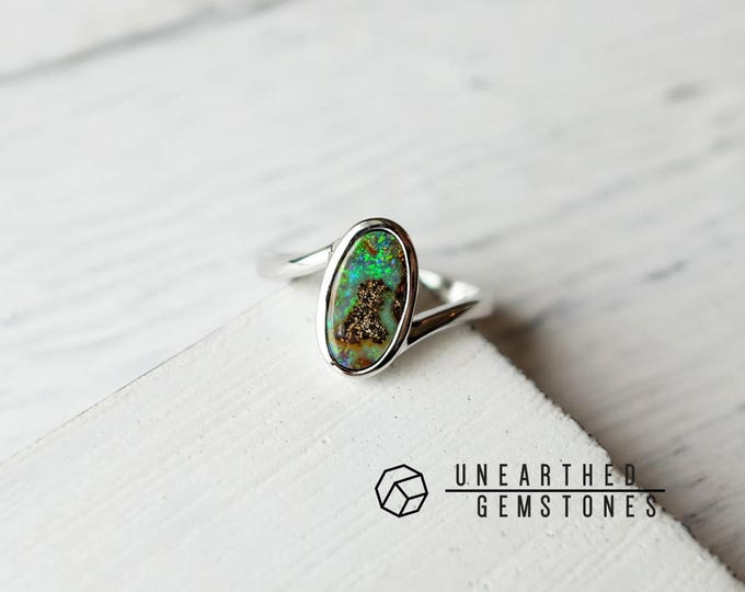 Size 6 Boulder Opal Ring