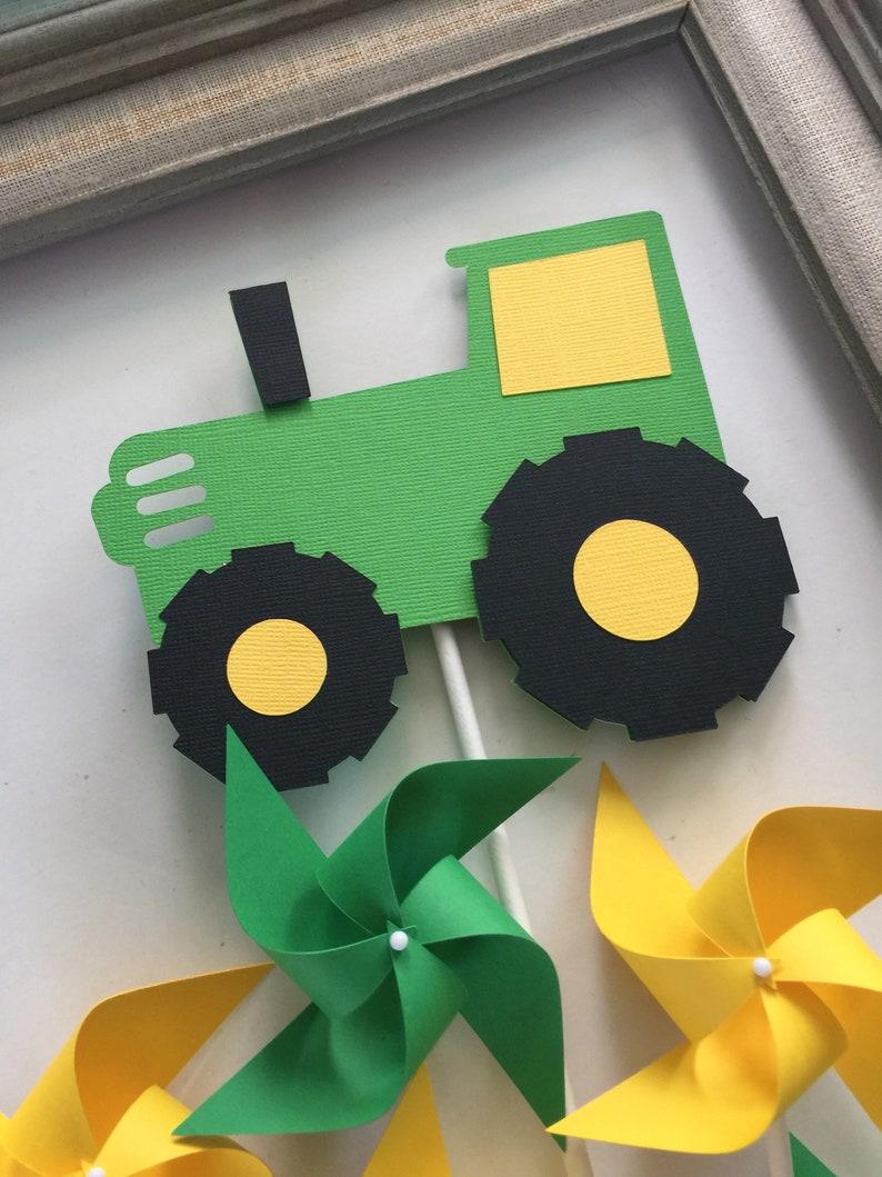 Tractor Party Farm Barnyard Theme John Deere 1st Birthday Etsy