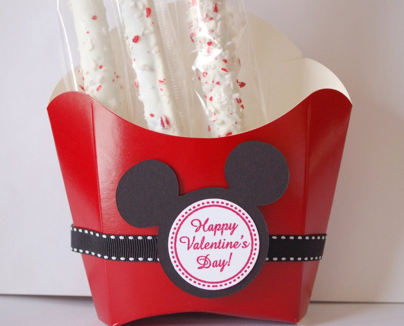 Mickey Mouse Birthday Valentine/'s Day Party Favor Bag Goodie Bag  Tag DIY Cello Bags Grosgrain Ribbons  Disney Mickey Mouse Ears 12