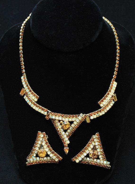 Vintage Jewelry Set - Vintage 1960's Costume Jewel