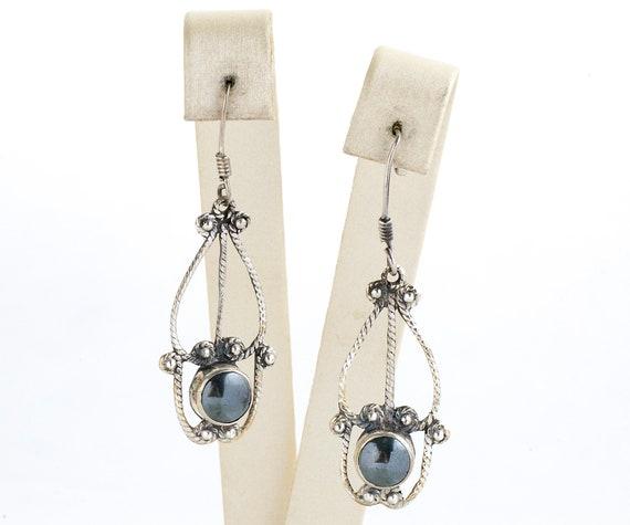 Vintage Earrings - Vintage Sterling Silver Hematit