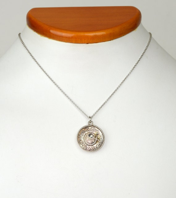 Antique Necklace - Antique Sterling Silver Mexican