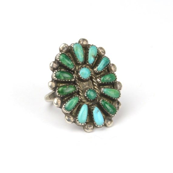Vintage Ring - Vintage Old Pawn Zuni Turquoise and