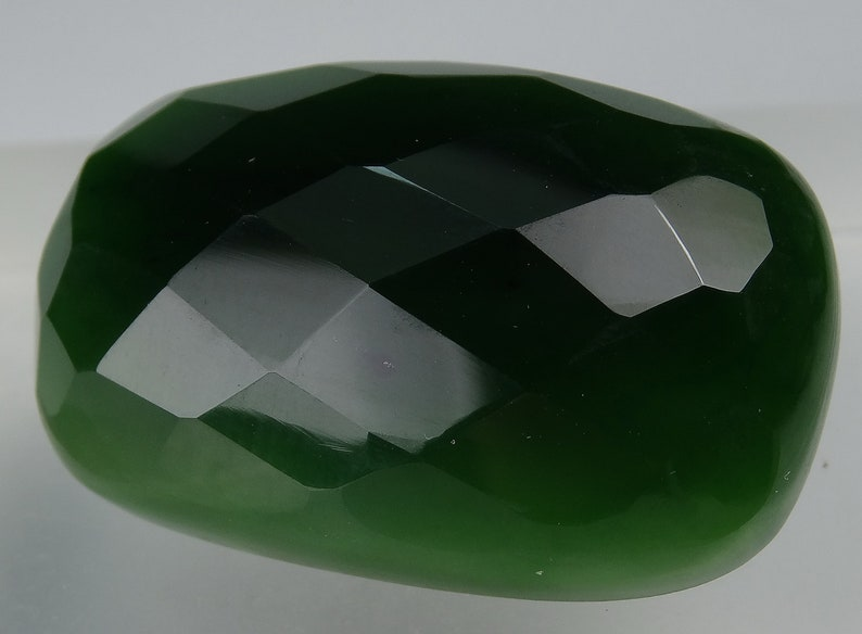 Pr-163 66 Carats Rose Cut Green Nephrite Stone from Afghanistan,