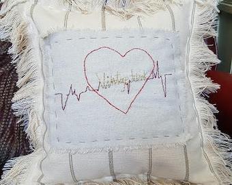 """The """"Heartbeat Junk"""" Pillow"""