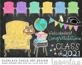 Graduation Day Class of 2021 Overlays couch graduation college Chalk Drawn Designs Virus Quarantine Senior Funny clipart hand drawn doodles