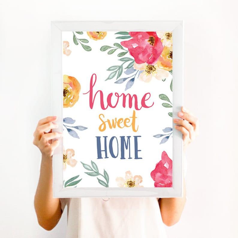 Home Sweet Home Frases Para La Casa Decoracion Cuadros Etsy