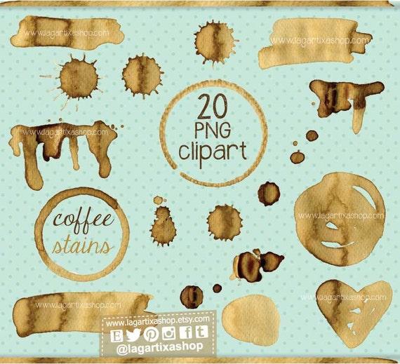 les taches de caf chocolat cliparts png gouttes de caf etsy. Black Bedroom Furniture Sets. Home Design Ideas
