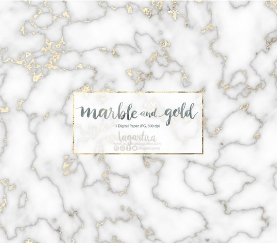 White Grey Marble, And Gold Foil, Digital Paper, Pattern, To Create Wedding Invitations, Cards, For Blog, Planners, Elegant Design Art by Etsy
