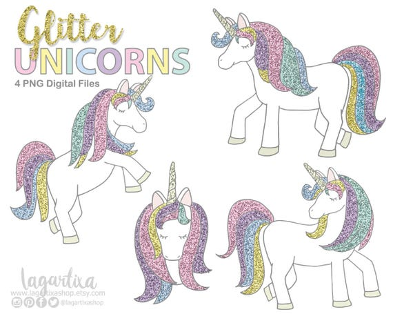 Unicorns Clipart Unicorn Nursery Clipart Purple Glitter | Etsy in 2020 | Unicorns  clipart, Unicorn nursery, Unicorn wallpaper
