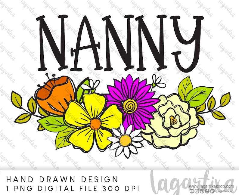 Flower Sublimation Designs Floral wreath doodles hand drawn image 0