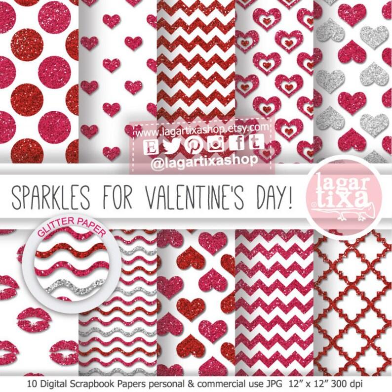Sfondo Carta Digitale San Valentino Cuori Rosso Rosa Frecce Etsy