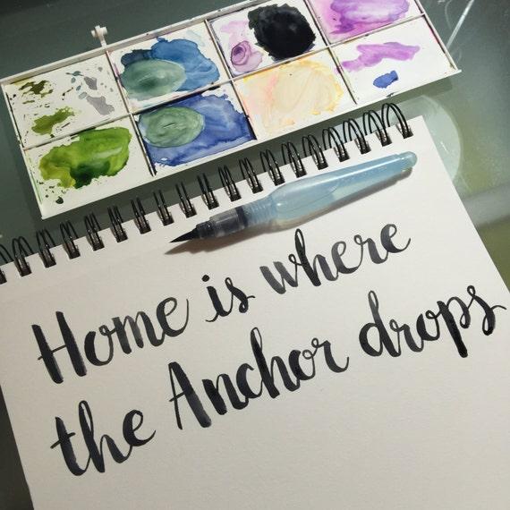 Home Sweet Home Frases Para La Casa Decoración Cuadros Acuarela Amapolas Flores Lettering Rosas Interiores Hecho A Mano