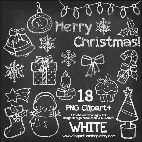 Christmas Chalkboard.Christmas Chalkboard Color Chalk Clipart Snowman Boot Star Christmas Tree Gifts Snow Flakes Candy Cane Bells Merry Christmas Letters Png