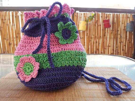 Schöne 3 Farben Häkeln Tasche Mit 3 Blumen Geldbörse Für Etsy