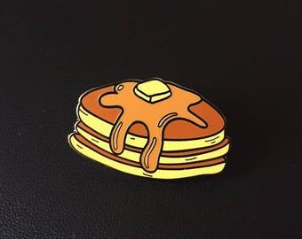 Maple Pancakes Enamel Pin (pancakes enamel pin, food enamel pin, maple pancakes, breakfast enamel pin, bacon enamel pin, breakfast food)