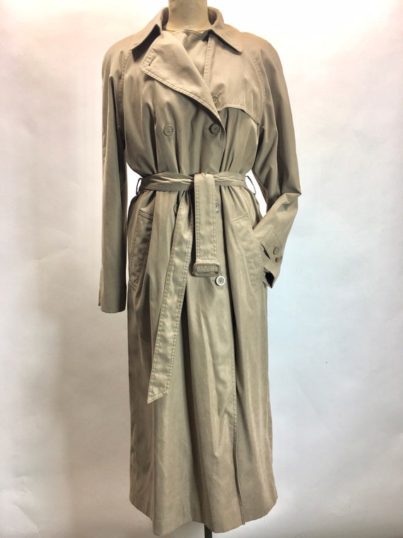 Hip trench coat by London Fog