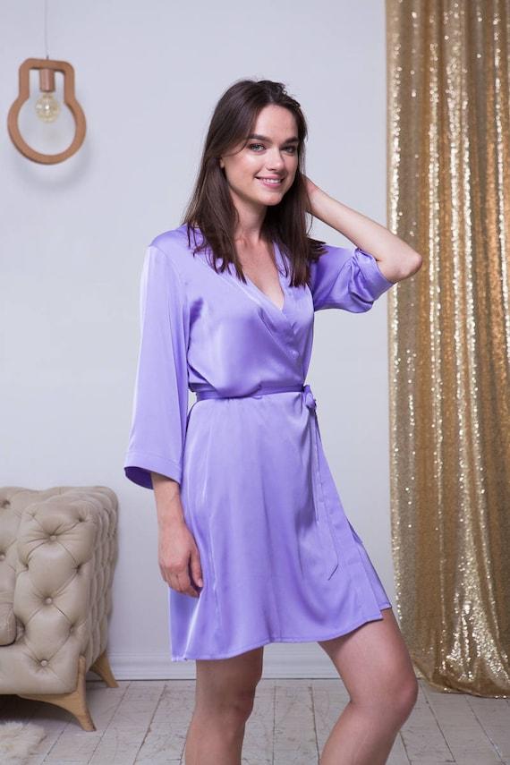 lilac bridesmaid robes - 570×855