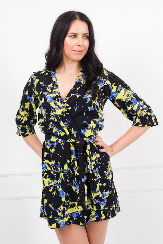 Black Floral Robe Robe Sale Black Floral Kimono Floral | Etsy