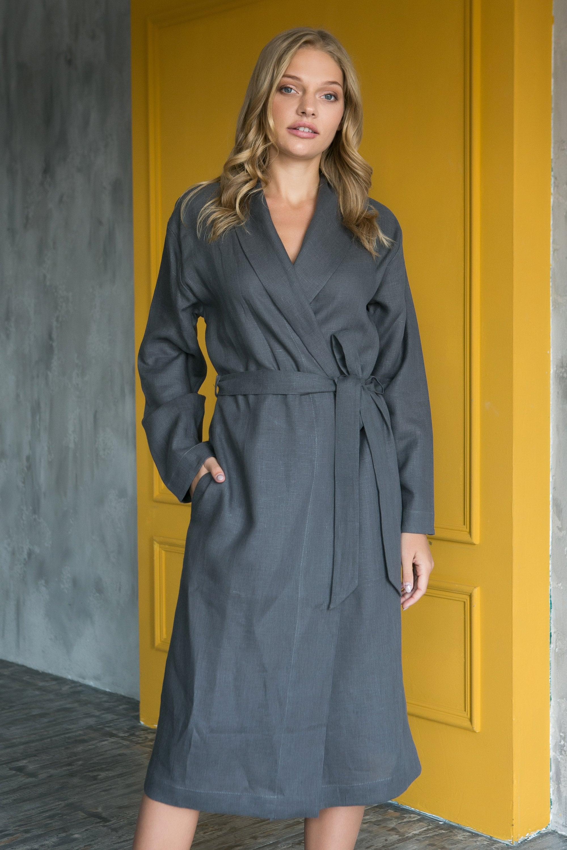 Leinen Robe, Damen Robe, Leinen Dressing Kleid, Leinen Kimono, Bademantel  für Frauen, Geschenk für Frau, Geschenk für Frauen, Housewarminggeschenk,  ...
