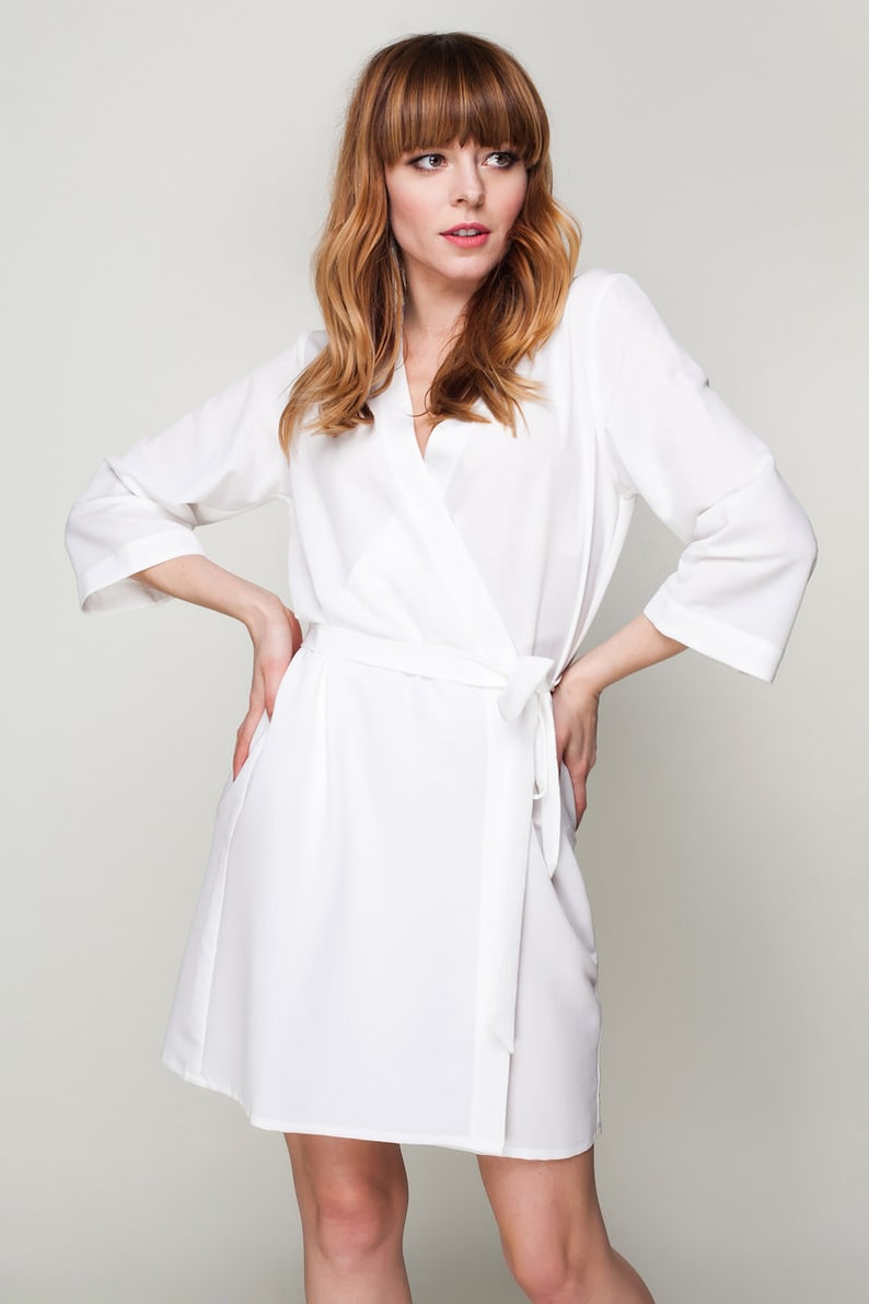 buying new professional design suitable for men/women White Robe, Bridesmaid Robe, White Dressing Gown, Bridal Robe, Bridesmaid  Gift, White Kimono, Satin Dressing Gown, Personalized Wedding Gift