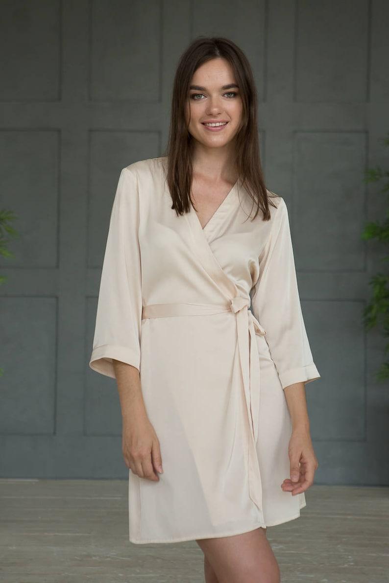 Ivory Satin Robes White Bridal Lace Robe Cream Bridesmaid  6cf23f765