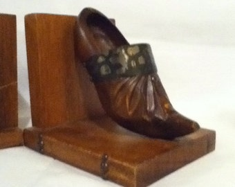 Moose Bookends Wood Wooden Book Ends Bookshelf Woodsy Rustic
