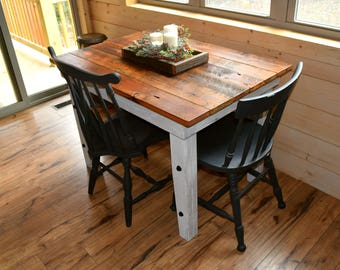 Farmhouse Dining Table, Reclaimed Wood Work Table, Industrial Rustic  Barnwood Harvest Computer Desk, Pinewood