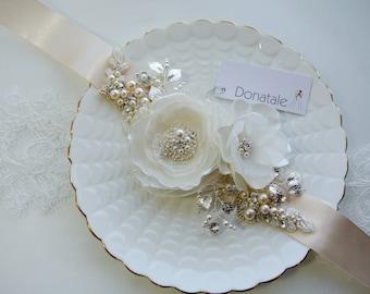 Bridal sash, Bridal belt, Wedding belt, Wedding sash belt, Rustic  Champagne wedding dress belt, Bridal belt, Rose gold  Belt - SHERIDAN