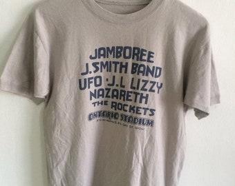 d94d3e86980 MEGA SALE 30% Vintage Jamboree Rock Band Nazareth UFO Pop Rock Metal Punk  Tour T Shirt Rare