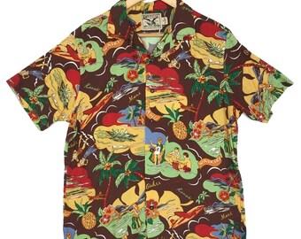 d30afe48 Vintage American Living Hawaiian Shirt Aloha Rayon Shirt Rare