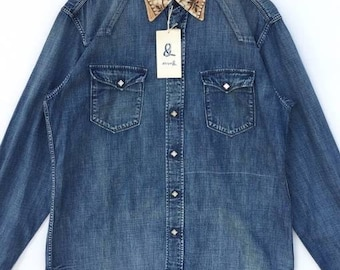 9b9532b7b6 Vintage 45rpm Snap Button Shirt Japanese Brand