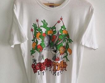 6c6c72373e0e96 30% MEGA SALE 90s Vintage Nike Grey Tag Michael Jordan Space Jam Tennis  Basketball NBA T Shirt Rare