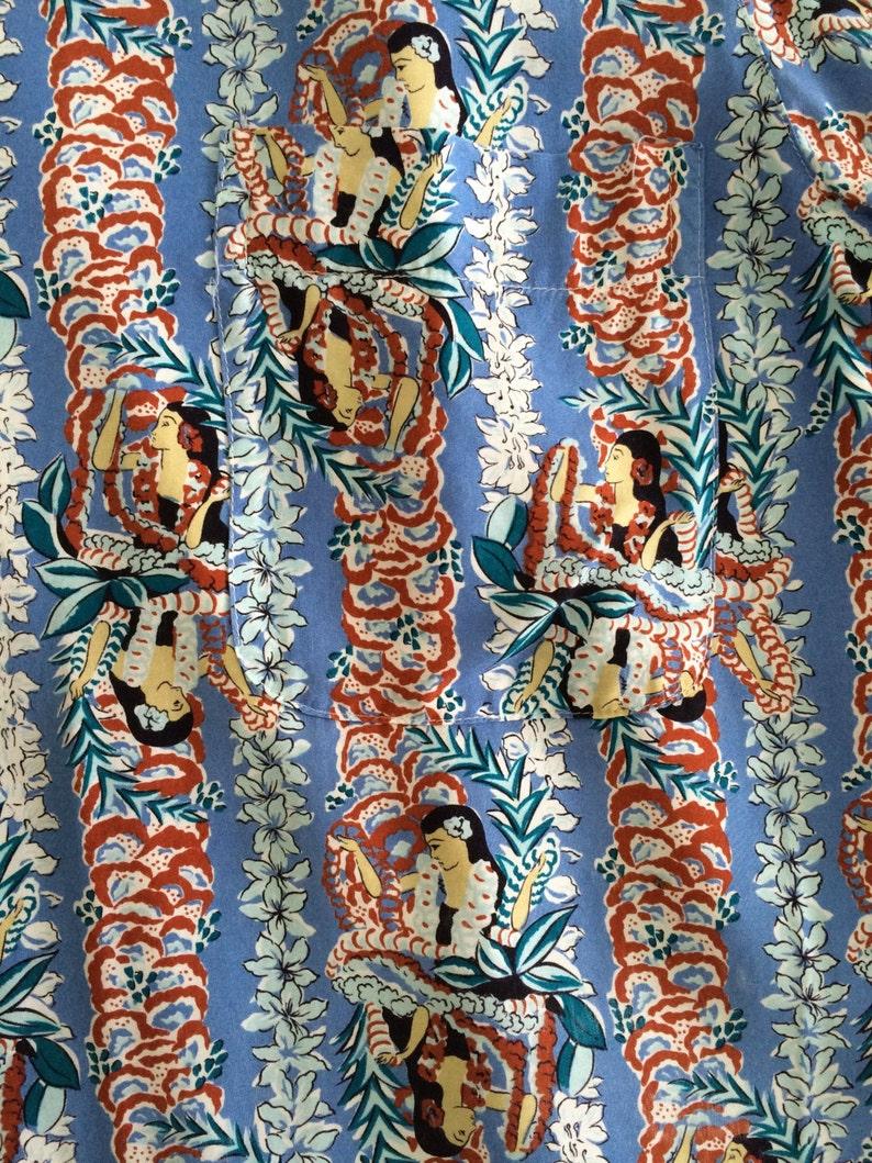 MEGA SALE 30/% Sun Surf Shirt Vintage Sun Surf Hawaiian Hawaii Aloha Hula Girls Vertical Flowers Rayon Shirt Toyo Ent Shirt Rare