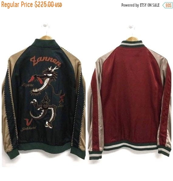 50% MEGA SALE Sukajan Jacket Vintage Sukajan Drago