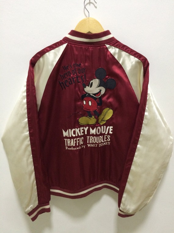 Sukajan Jacket Vintage Sukajan Japan Mickey Mouse