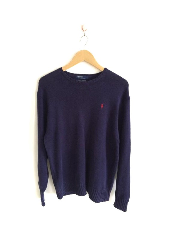 Polo Knit Sweater Vintage Polo Ralph Lauren Small