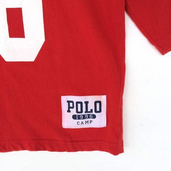 ANNÉE fin vente 30 % Polo Vintage Ralph Polo Lauren Polo Ralph Sport Spellout Usa drapeau ours Polo stade Ski P aile neige plage Polo Sport T Shirt e10bab