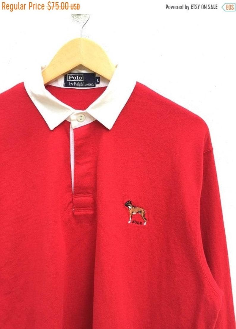 e0863f20c94a8 MEGA SALE 30% Polo Rugby Vintage Polo Ralph Lauren Polo Dog
