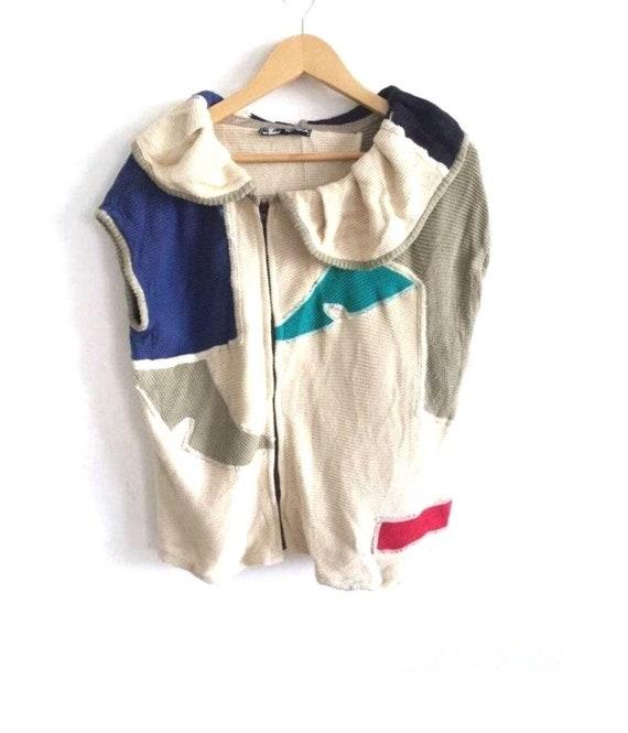 Vintage Kansai Eye Kansai Yamamoto Zipper Knit Swe