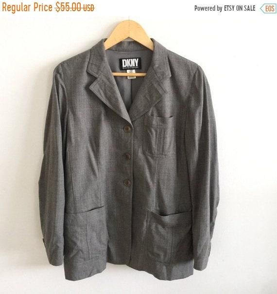 ANNÉE 30 fin vente 30 ANNÉE % Dkny Blazer Vintage Donna Karan New York Made in Italie Blazer manteau Rare fad189