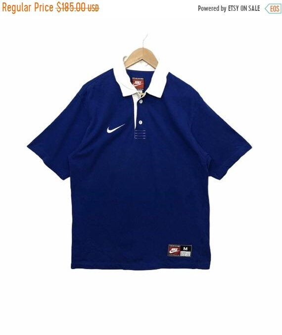 50% MEGA SALE Vintage Nike Rugby Shirt Polo Rugby