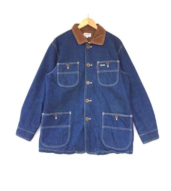 Vintage Big Bell Workwear Japanese Brand Denim Jac