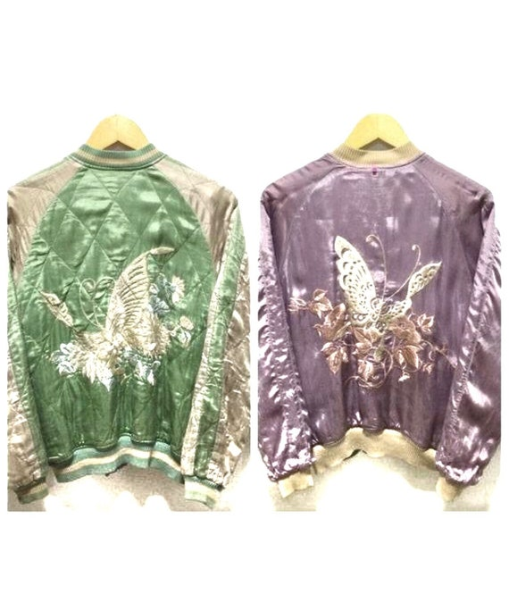 Sukajan Jacket Vintage Sukajan Japan Butterfly Rev