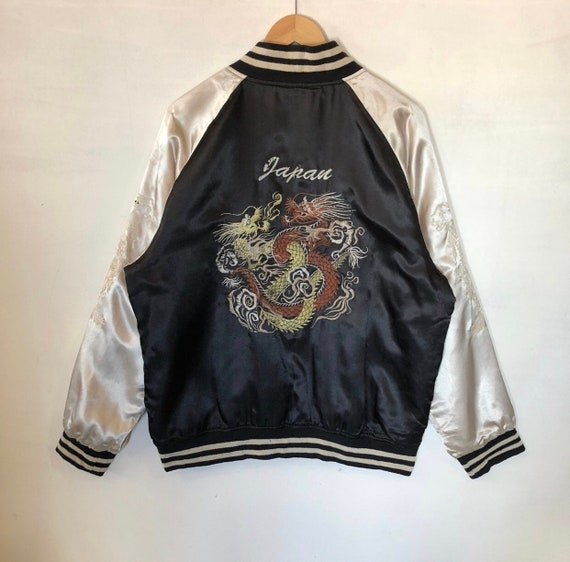 Sukajan Jacket Vintage Sukajan Japan Dragon Embroi