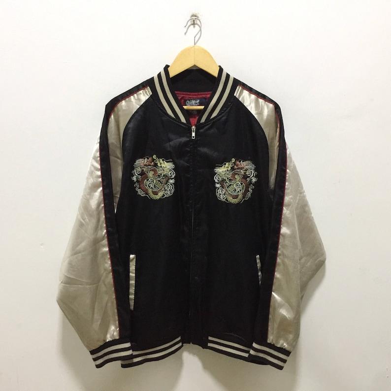 50/% MEGA SALE Sukajan Jacket Vintage Sukajan Japan Dragon Eagle Tiger Sakura Embroidery Souvenirs Jacket Rare