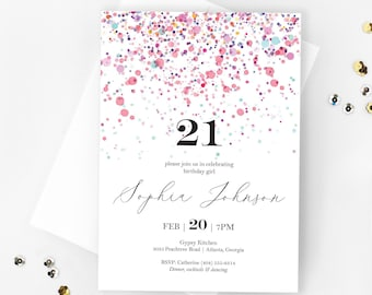 50th Birthday Invitation Template Etsy