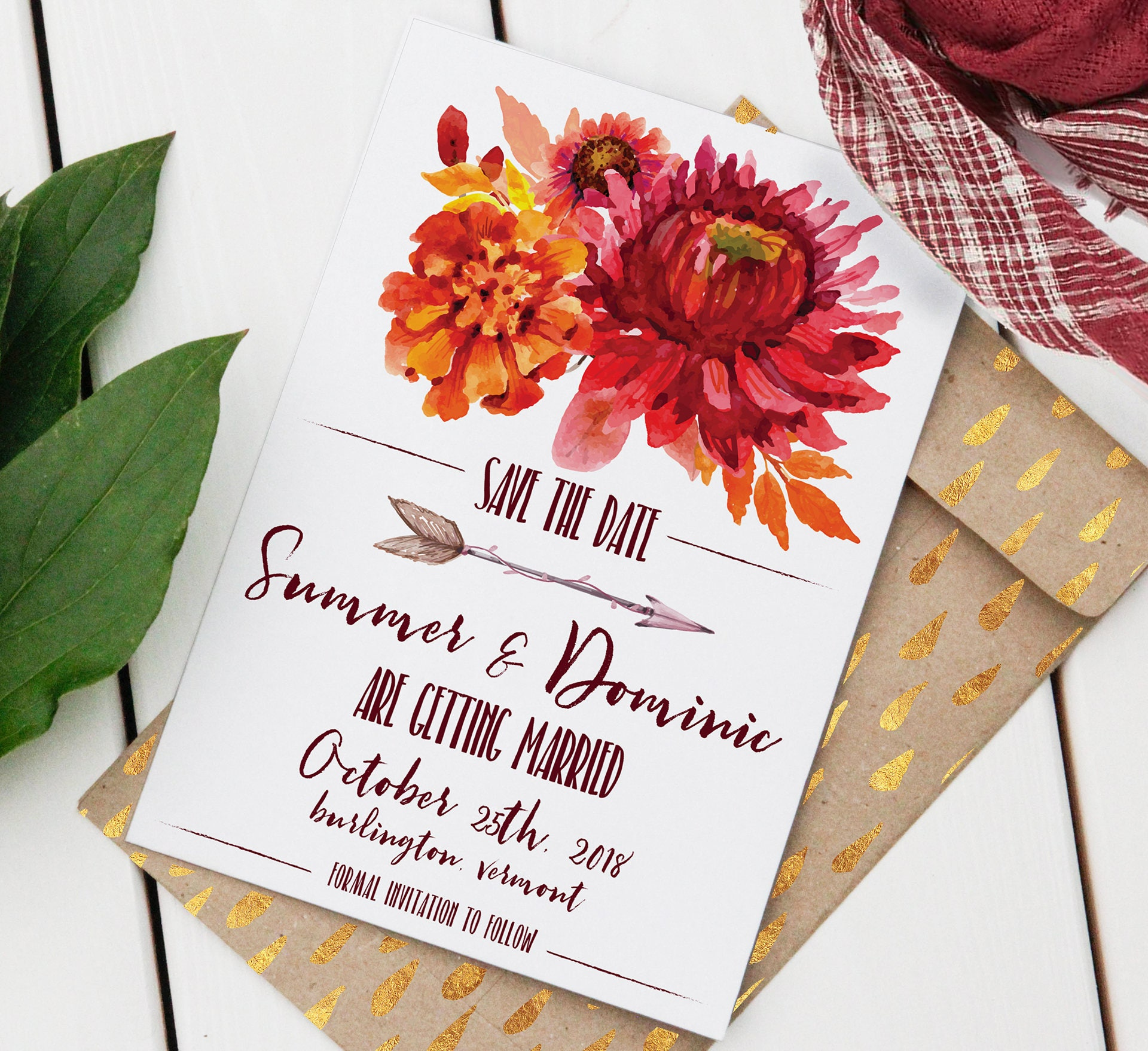 Editable Save-the-Date Bohemian Wedding Instant Download | Etsy