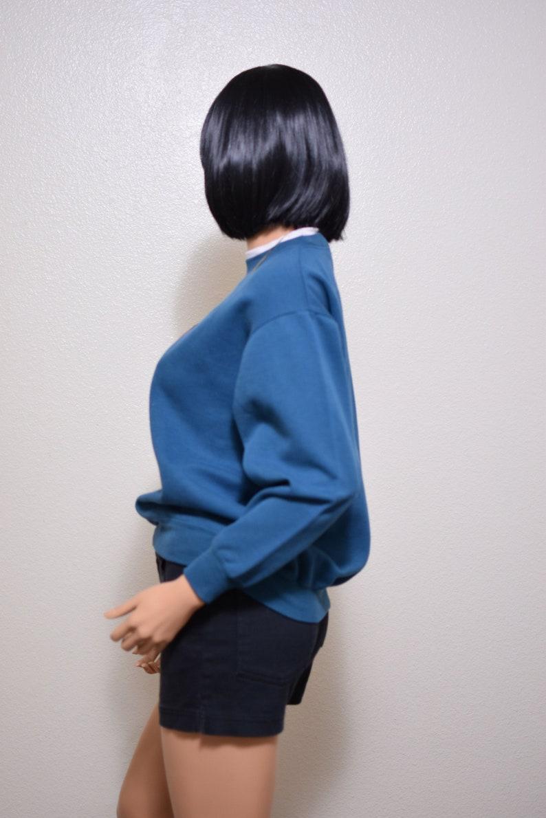 playboy sweatshirt vintage plaid deep teal 80s 90s